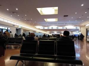 羽田空港の到着ロビー
