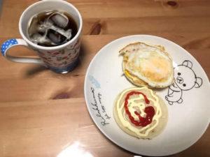 作っれくれた朝食