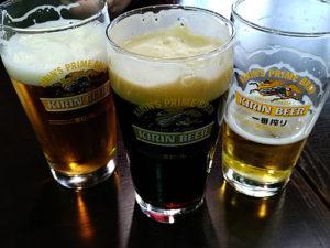 各種ビールを試し飲みしました。