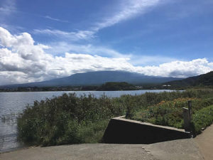 河口湖からの景色