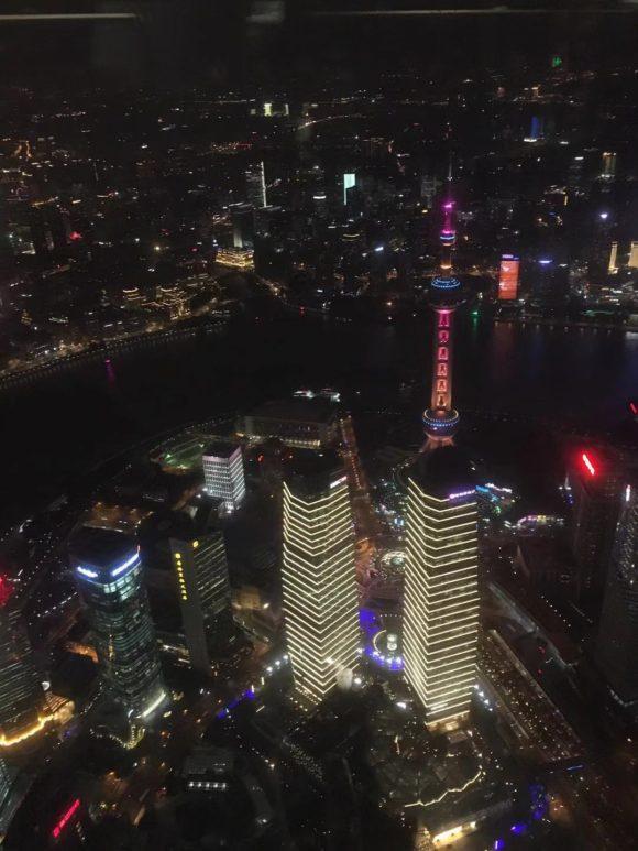 上海中心大厦(展望台)からの夜景